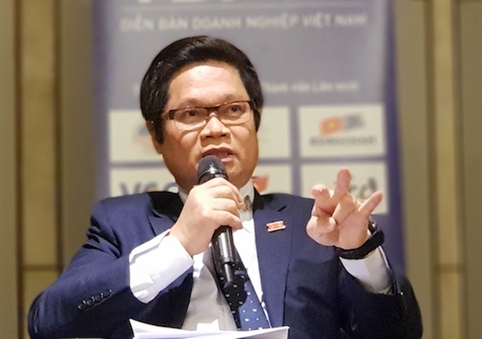 Vu Tien Loc, Chairman of VCCI. Photo by: H.Thu