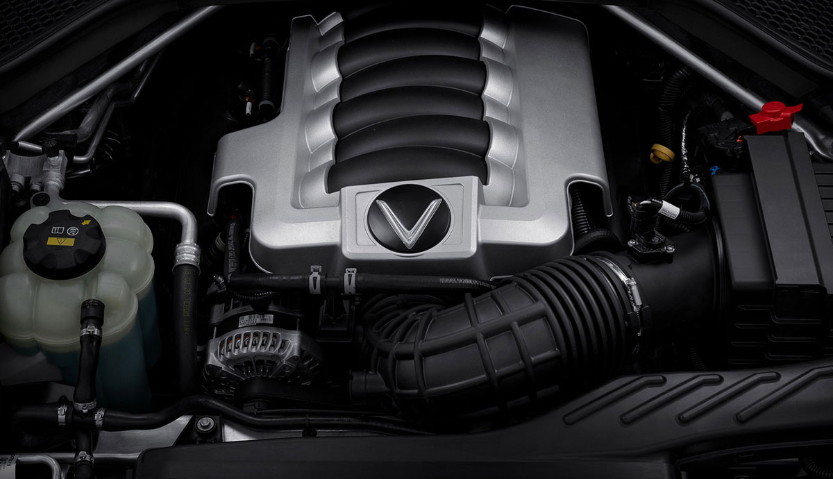 The V8 engine of VinFast President. Photo courtesy of VinFast.