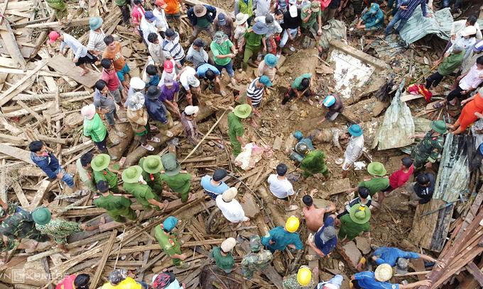 46 landslide survivors rescued in central Vietnam
