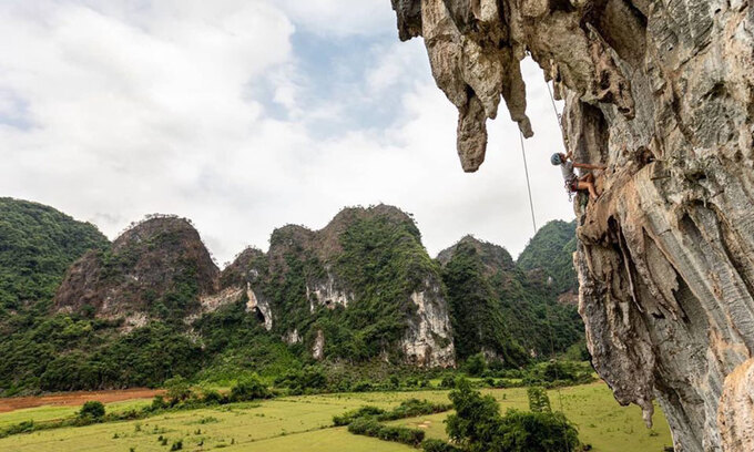 Sheer rock faces offer a new high in northern Vietnam