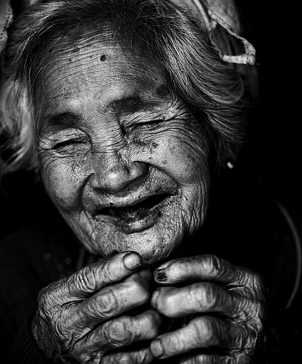 Smile of Mom by Manh Cuong Vuong in central Khanh Hoa Province. The photographer took part in a community project, which took photos of people in need, print and send their portraits to them to give them a belief and joy in life. This woman was extremely happy to be photographed for the first time, if not also a little embarrassed, it was a special moment for me as it is for her. Through the pictures we know, happiness often comes from very simple things. Everyones happiness is different, Vuong recelled.
