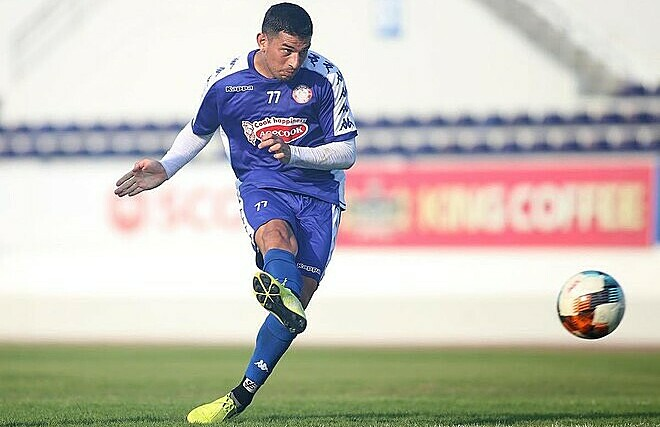 Ariel Rodriguez plays for HCMC FC in V. League 1 2020. Photo courtesy of HCMC FC.