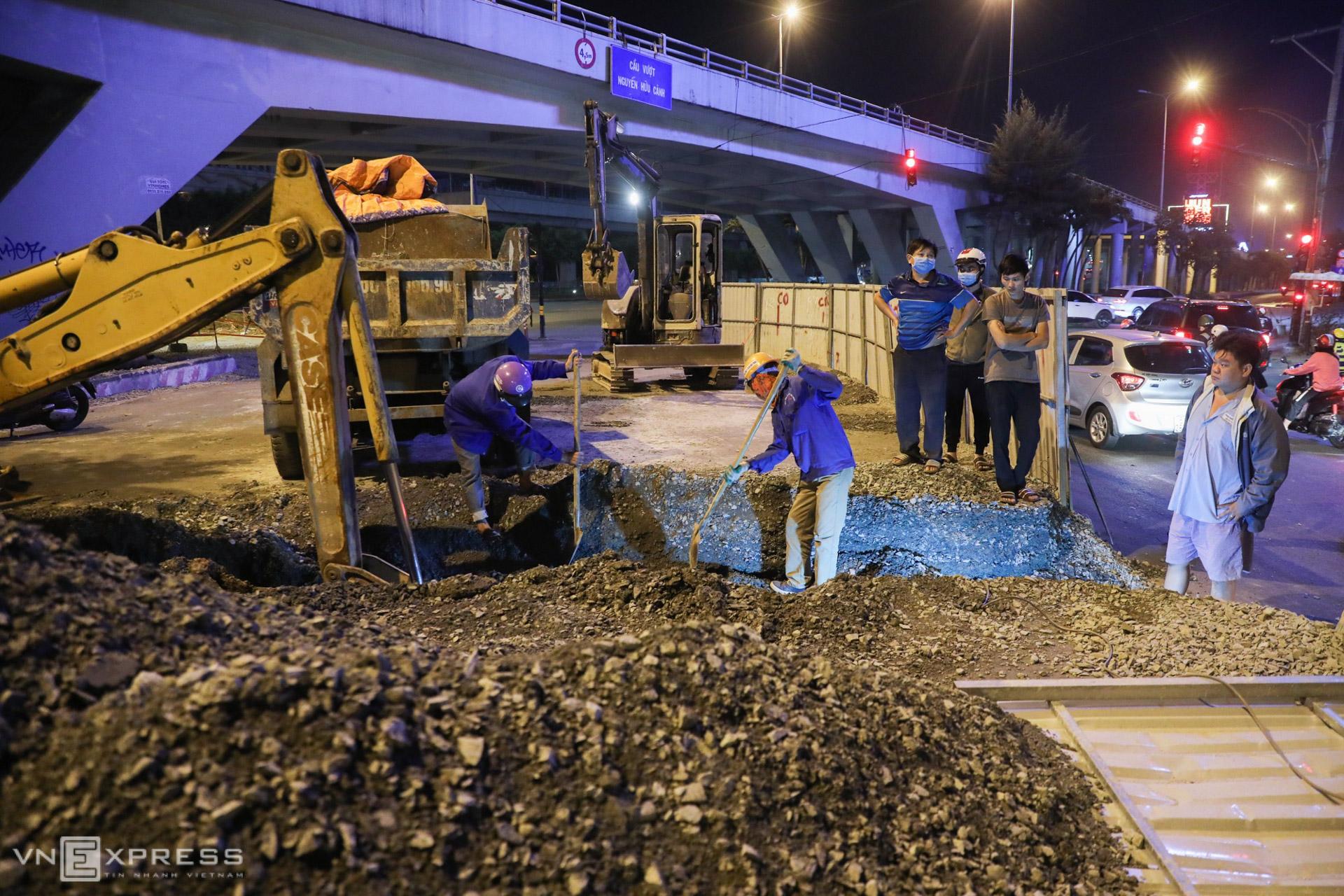 Upgrade work speeds up on HCMC flood-prone street