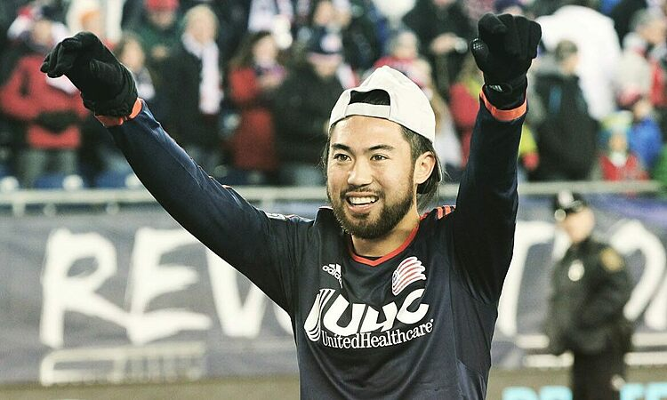 Lee Nguyen in New England Revolutions jersey. Photo courtesy of New England Revolution.