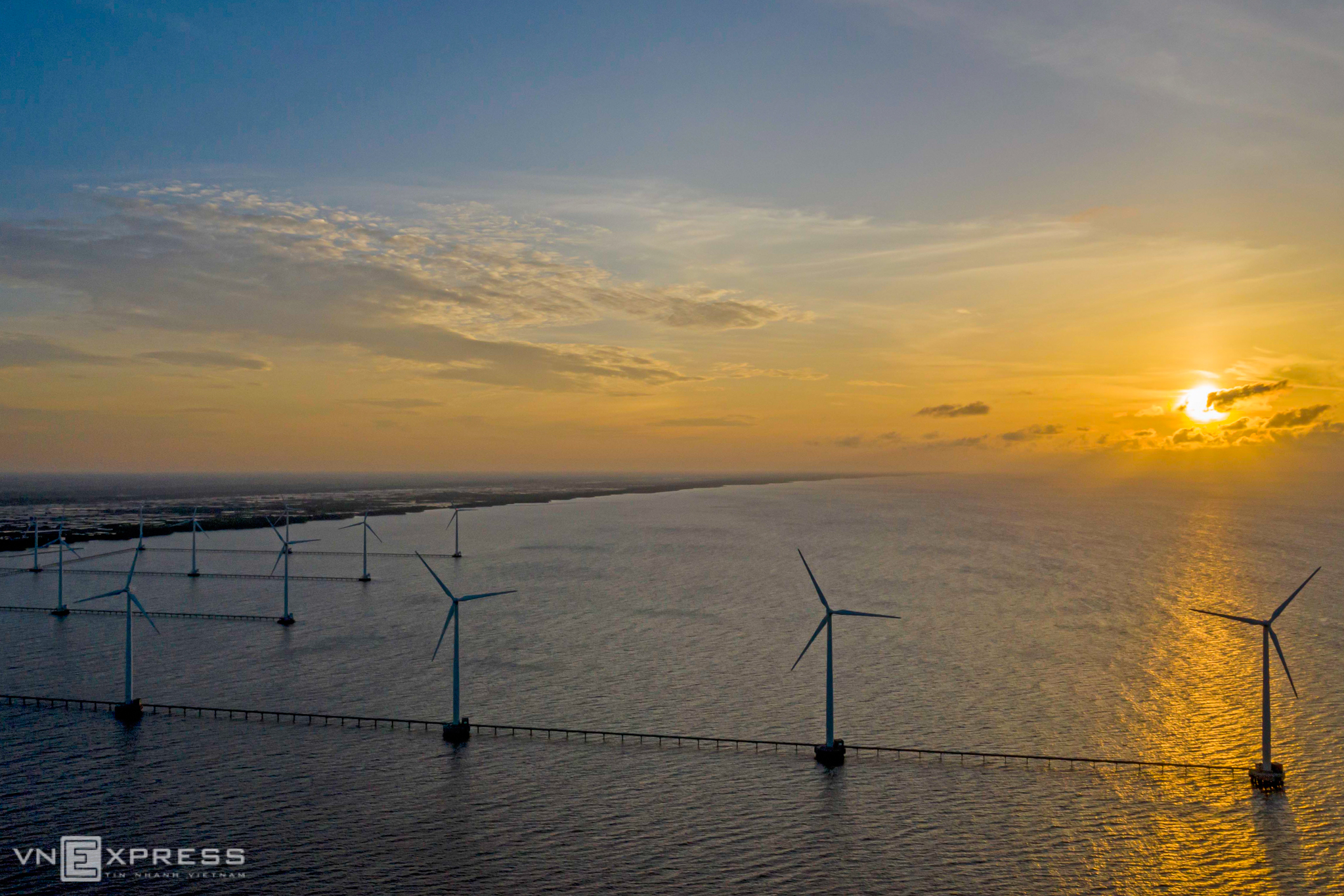 And offshore wind farm in Vietnams southern province of Bac Lieu, May 2020. Photo by VnExpress/Nguyet Nhi