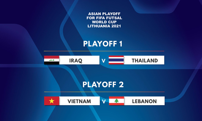 Vietnam to play Lebanon in Futsal World Cup qualification playoff