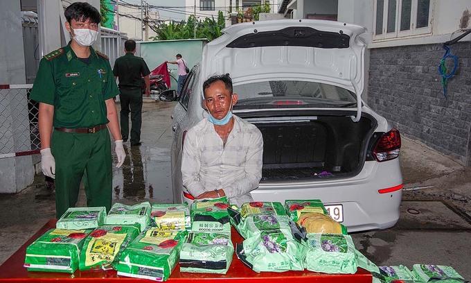 20 kilos of narcotics seized en route to HCMC