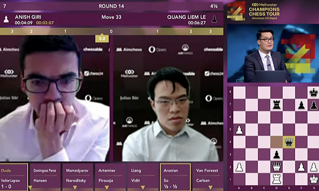 Vietnam GM eliminated from US chess tournament, qualification for finale uncertain