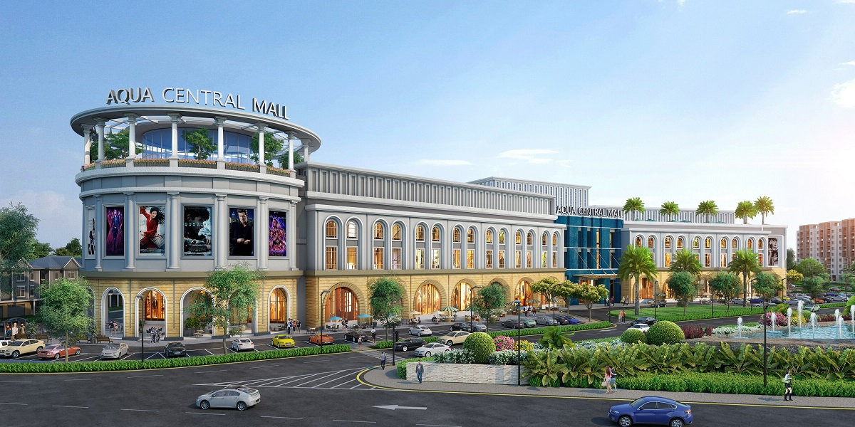 Along with shopping streets, the 1.4-hectare Aqua Central Mall operated by Nova Retail will provide residents and visitors with trendy shopping experiences. Photo by Novaland