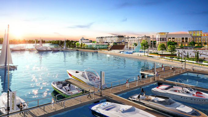 Aqua Marina will be completed by the end of this year, boosting the lifestyle of elite residents. Photo by Novaland